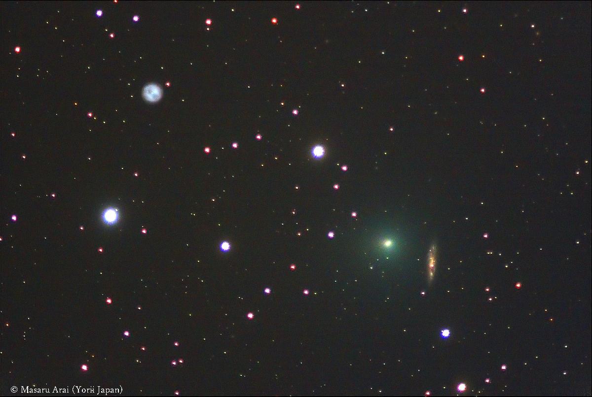 [写真] M108に大接近したタットル・ジャコビニ・クレサーク彗星 星を見る・宇宙を知る・天文を